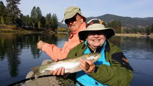 Big Rainbow Trout Clark Fork spinning tackle
