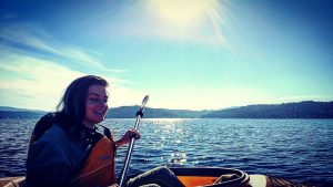 kayaking Lake Coeur d'Alene